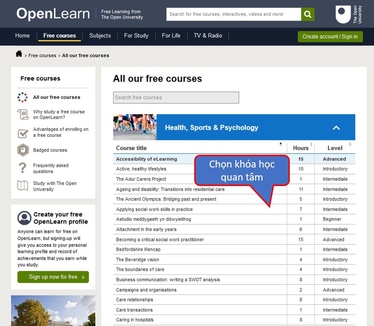 OpenLearn – Một nền tảng học tập miễn phí
